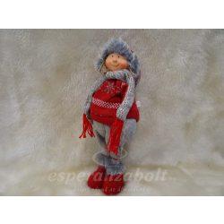 Álló karácsonyi eszkimó lány nadrágban 30cm