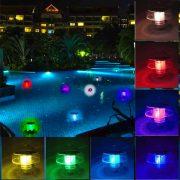 Napelelemes medence világítás, kerti tó világítás színváltó