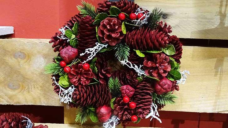 Karácsonyi ajtódísz kopogtató