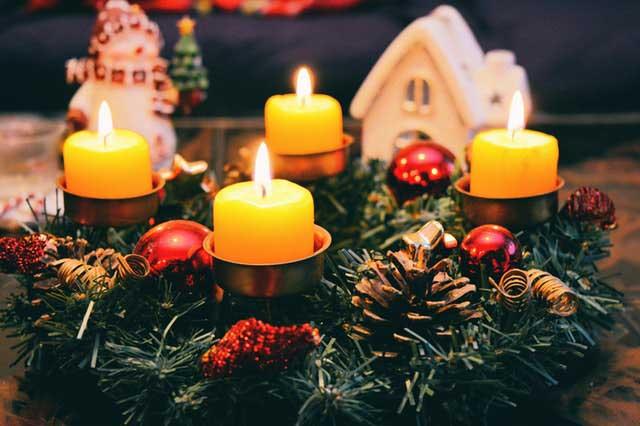 adventi koszorú - karácsonyi dekoráció