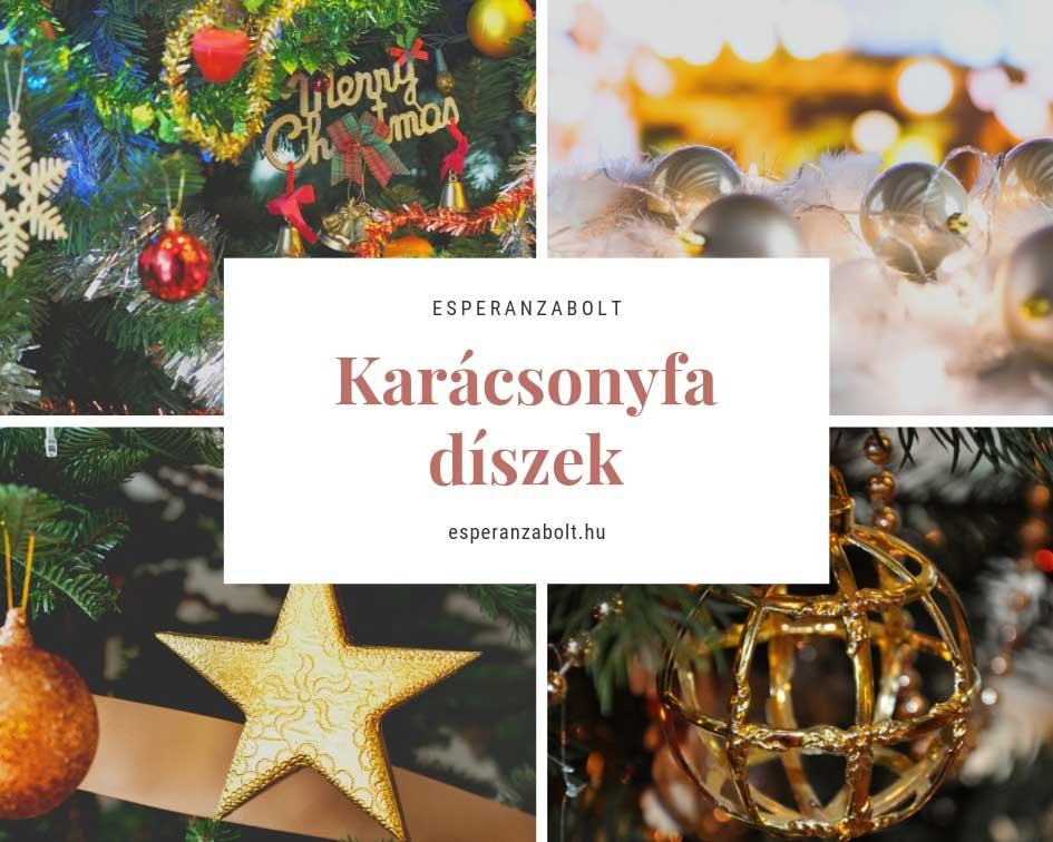 Karácsonyi dekoráció - karácsonyfadiszek nagy választékban