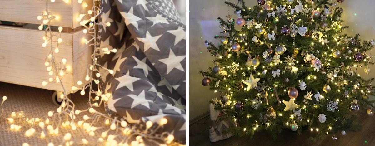Karácsonyi világítás - karácsonyfa fényfüzér