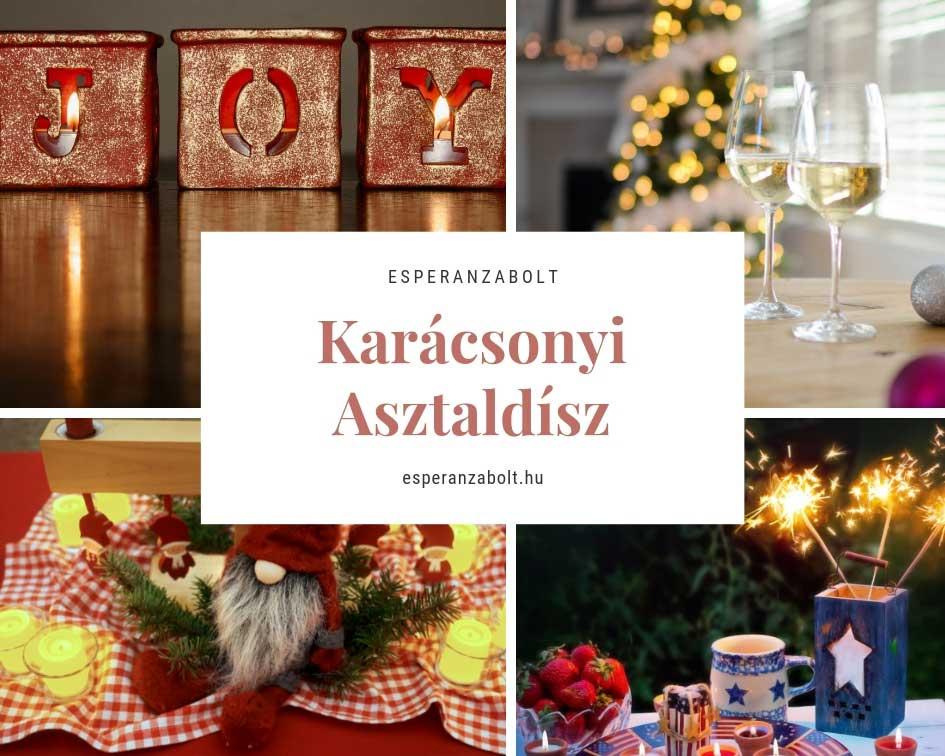Karácsonyi asztaldísz dekorációk