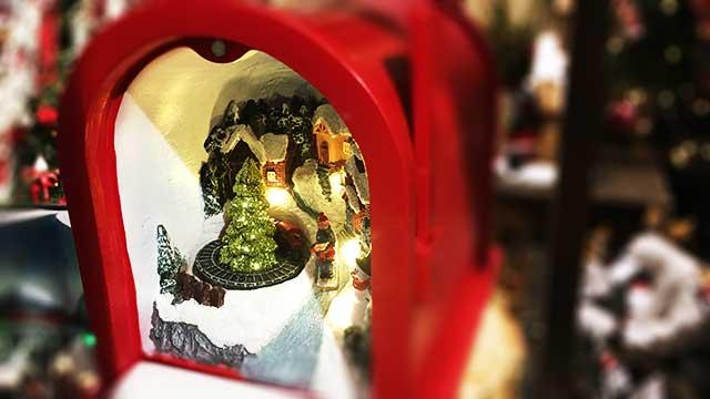 Karácsonyi dekorációs dioráma