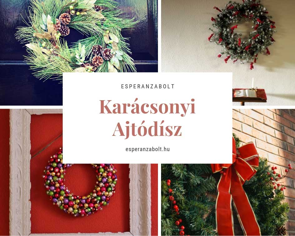 Karácsonyi dekoráció - ajtódíszek