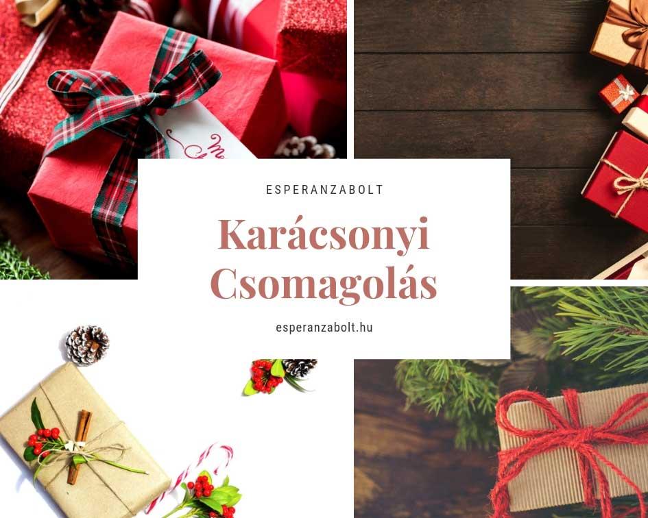 Karácsonyi dekorációs csomagolás