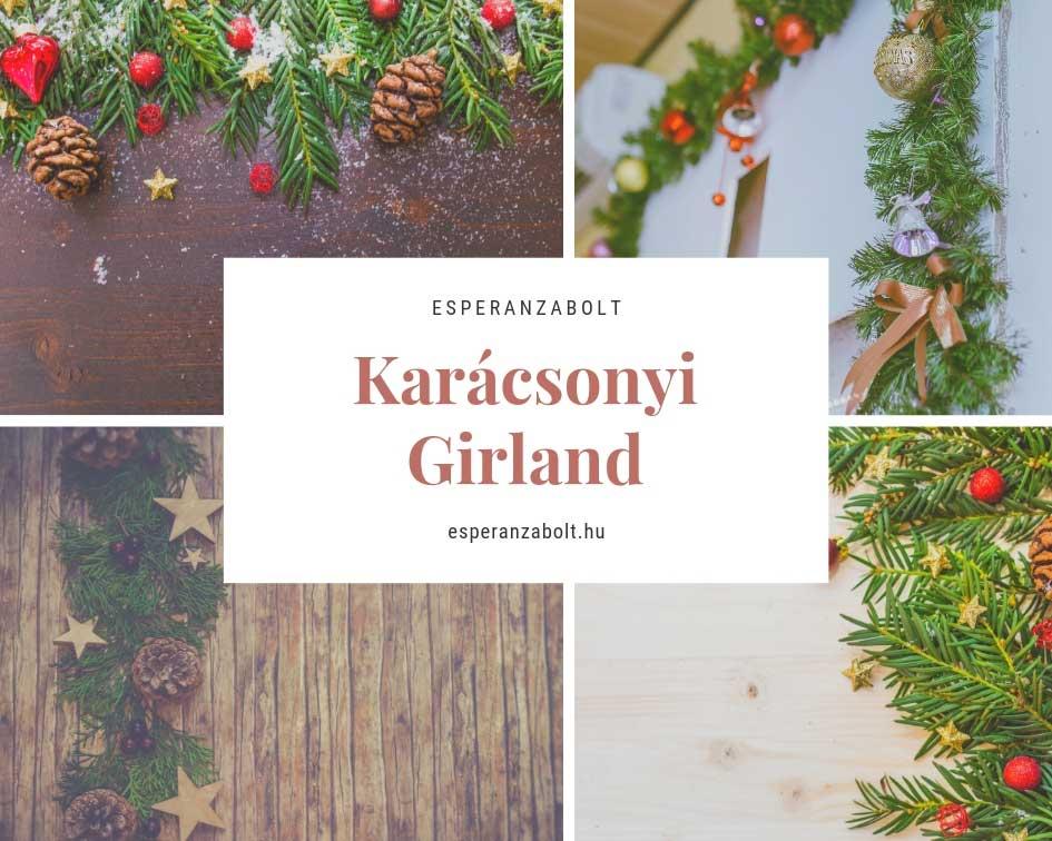 Karácsonyi dekoráció - girland