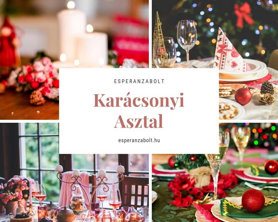 Karácsonyi dekoráció - Karácsonyi asztal