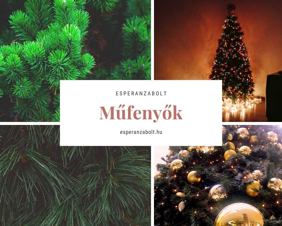 Karácsonyi dekoráció - műfenyő