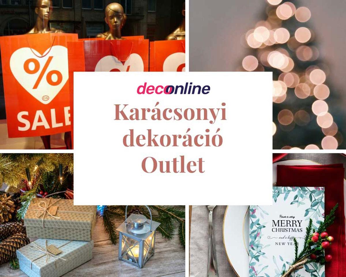 Karácsonyi dekoráció outlet