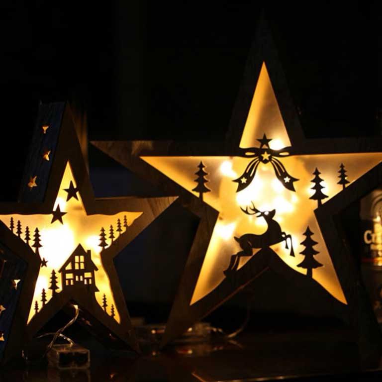 Téli fa csillag ablakdísz