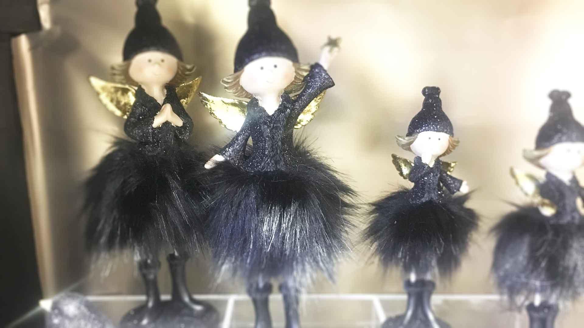 Karácsonyi Trend Fekete színű dekorációk