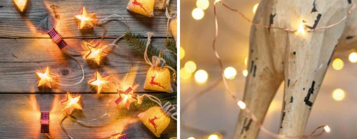 Karácsonyi fények - Drótos fényfüzér