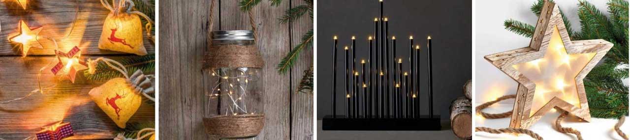 Modern és elegáns karácsonyi világítás