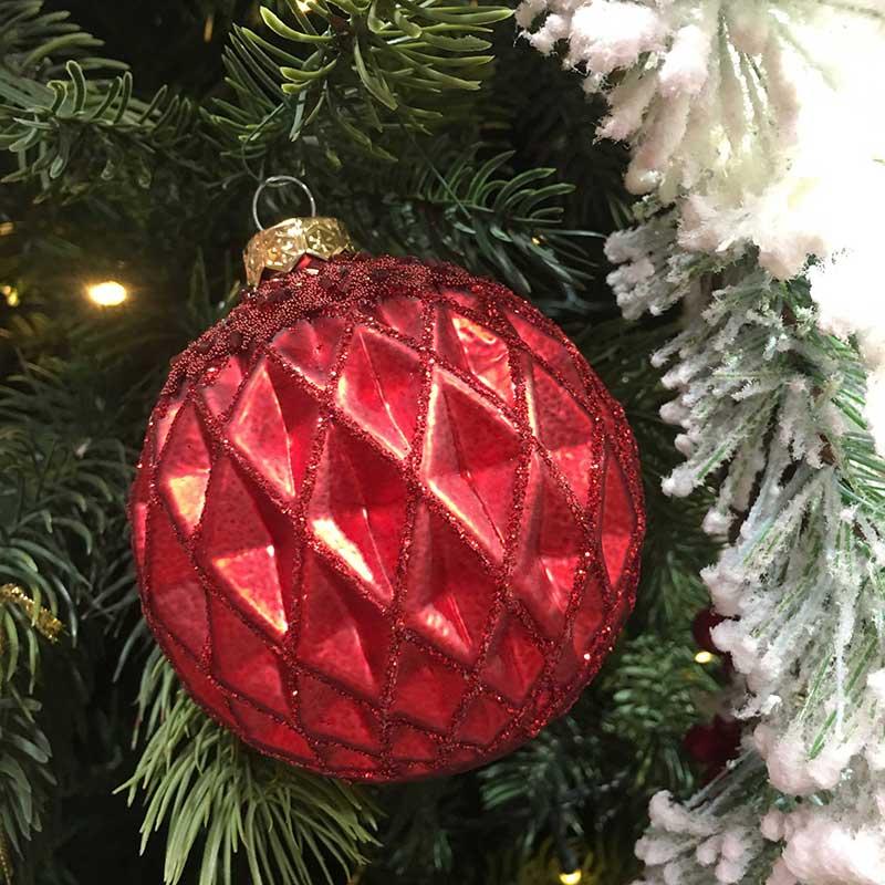 Karácsonyi dísz - karácsonyfa gömbdísz