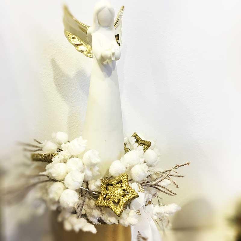 Karácsonyi figura - kerámia angyal