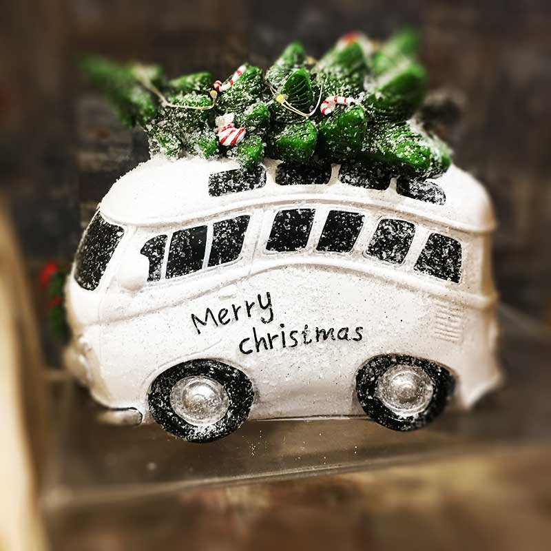 Karácsonyi figura - busz, autó
