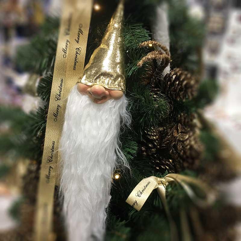 Karácsonyi figura és karácsonyfadísz manó