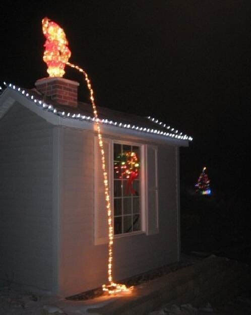 karácsonyi mikulás világítás