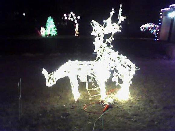 karácsonyi világítás világító szarvasok