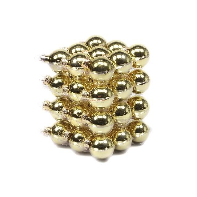 Gömbdísz üveg 4cm arany fényes 36 db-os Karácsonyfa gömb