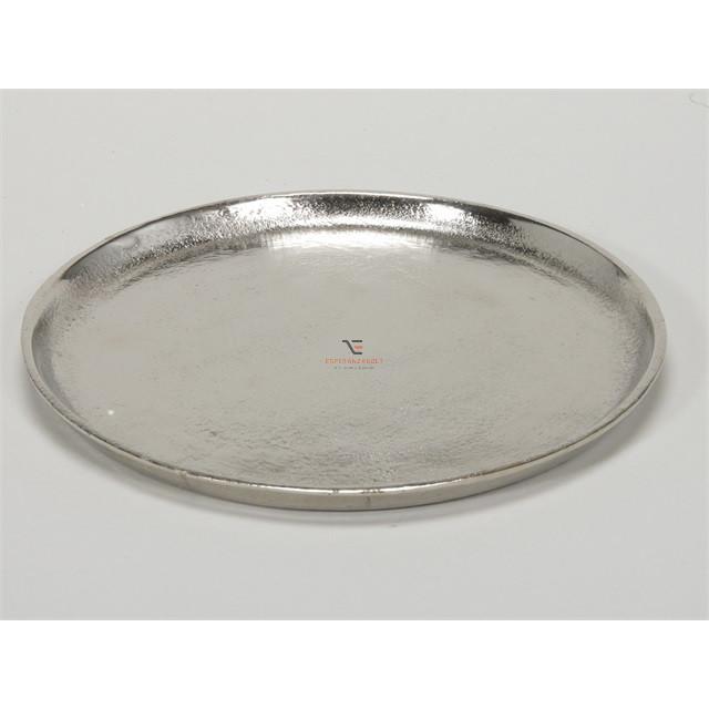 Tányér nikkel 36cm ezüst