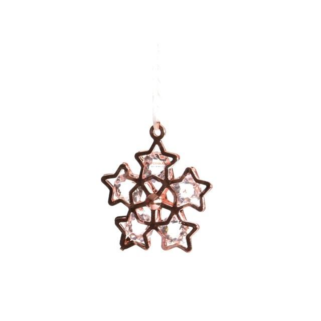Hópihe fém 3 cm bronz 24 db-os fém karácsonyfadísz