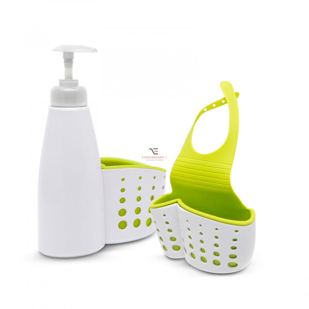 Fürdőszobai / konyhai eszköztartó pumpás flakonnal