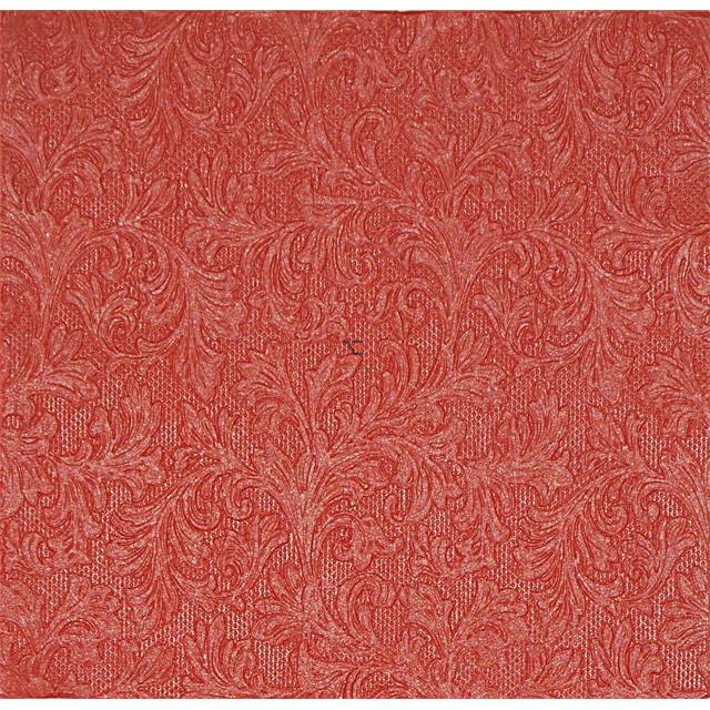 Papír Szalvéta 3 rétegű - Fiorentina Uni red 33x33cm piros 20 db/szett