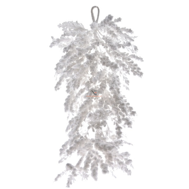Havas ág műanyag 70cm fehér karácsonyi dekorációs kellék