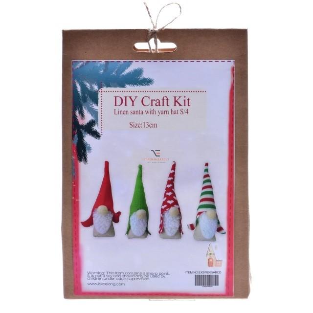 Manó textil 13cm piros-zöld 4 féle 4b-os DIY Karácsonyi manó