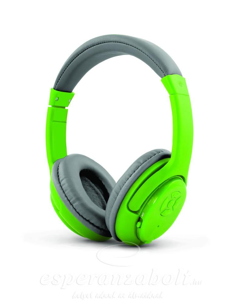 Esperanza Libero Bluetooth Fejhallgató zöld EH163G