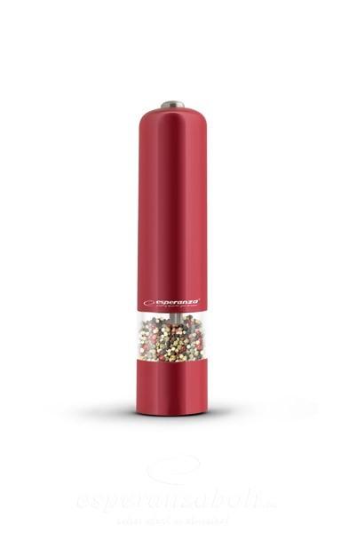 Esperanza Malabar Fűszer só, bors örlő piros EKP001R