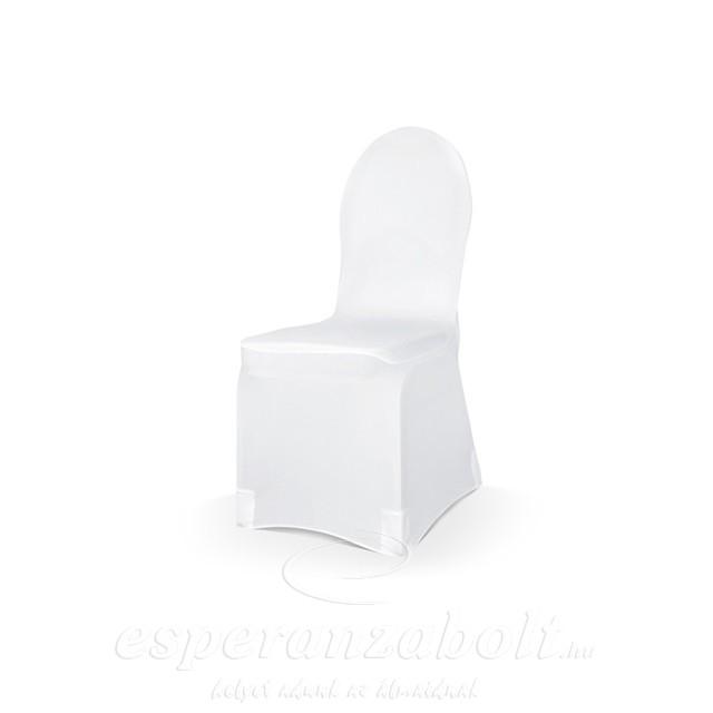 Székhuzat spandex, Székszoknya strech fehér