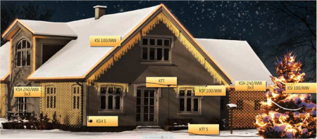 sorolható karácsonyi világítás
